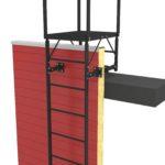 Пожарная лестница п1-1 на сэндвич-панель