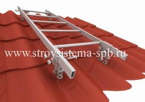 Кровельная лестница на металлочерепицу