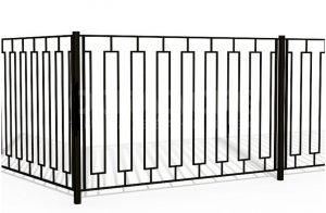 забор сварной из профильной трубы